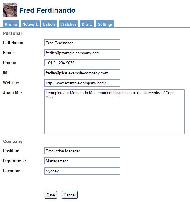 Editing User Profile - NYU Wikis Help Center - NYU Wikis